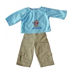 Set pantalon si bluza papusi 32 cm Miniland