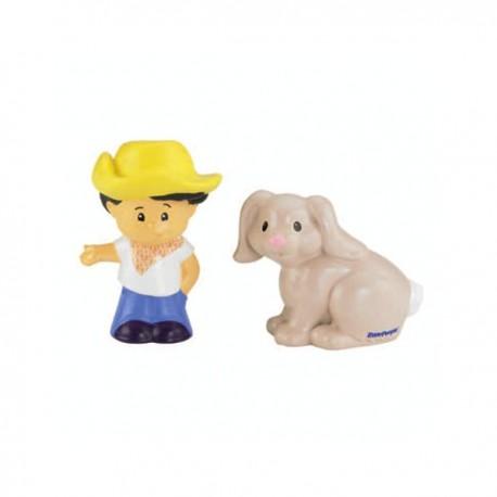 Set figurine Koby si iepurasul Little People - Fisher Price