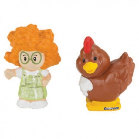 Set figurine Sofia si gaina Little People - Fisher Price