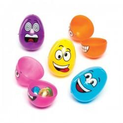 Set 12 oua din plastic Funny Face - Baker Ross