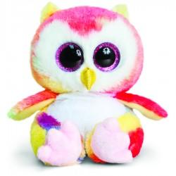 Bufnita de plus Rainbow Owl Animotsu 15 cm Keel Toys