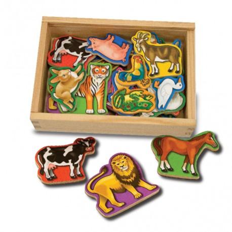 Animale de lemn cu magneti Melissa and Doug