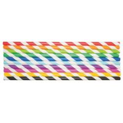 Set 50 paie din carton colorat pentru creatie - Playbox
