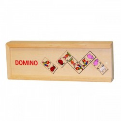 Domino Animale in cutie de lemn