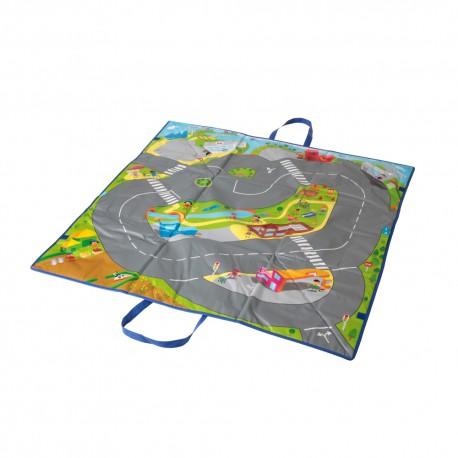 Covoras de joaca si cutie pentru jucarii Trafic