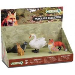 Set 5 figurine Animale din padure pictate manual LPP Collecta