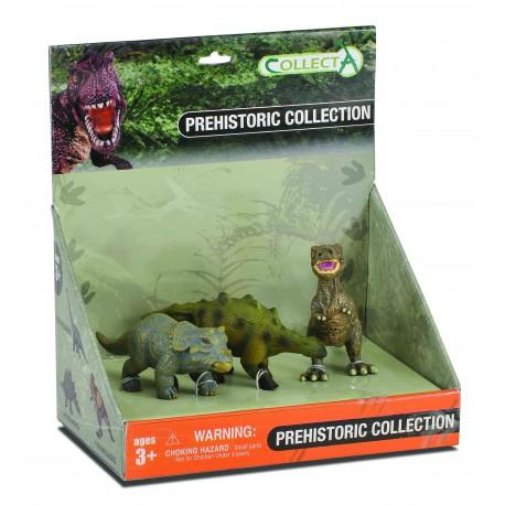 Set 3 figurine Pui de Dinozauri pictate manual Collecta