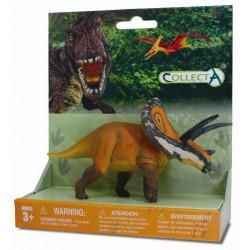 Figurina pe platforma dinozaur Torosaurus pictata manual XSPP Collecta