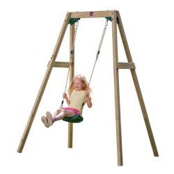 Leagan din lemn copii Single Swing Set Plum