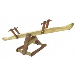 Balansoar din lemn pentru 2 copii Premium Seesaw Plum