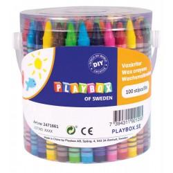 Set 100 creioane colorate