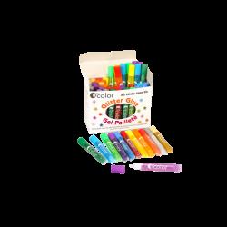 Set 50 flacoane lipici glitter in 12 culori asortate