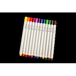 Set 12 creioane colorate cu varf gros de 8 mm pentru incepatori