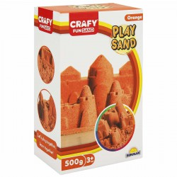 Nisip kinetic Fun Sand 500 gr culoare Orange