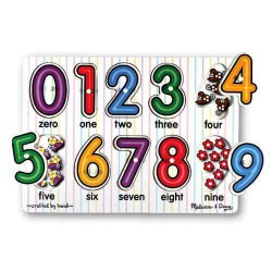 Puzzle lemn Cifrele Melissa and Doug