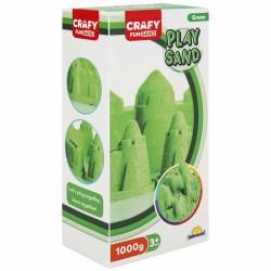 Nisip pentru modelaj Fun Sand 1000 gr culoare Verde