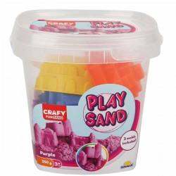 Nisip kinetic Fun Sand 350 gr Mov si 3 unelte de modelat