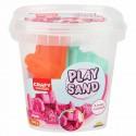 Nisip kinetic Fun Sand 350 gr Roz si 3 unelte de modelat