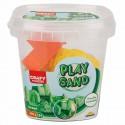 Nisip kinetic Fun Sand 350 gr Verde si 3 unelte de modelat