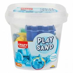 Nisip kinetic Fun Sand 350 gr Albastru si 3 unelte de modelat