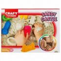 Nisip kinetic Fun Sand 1000 gr cu tavita si sabloane Castel