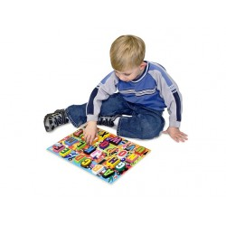 Melissa and Doug - Puzzle lemn in relief Litere