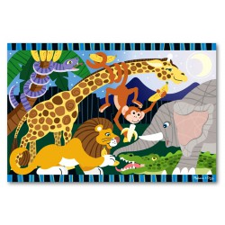 Puzzle de podea Safari Social Melissa and Doug