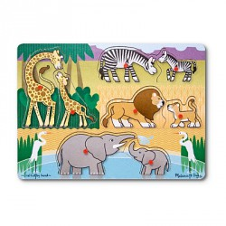 Puzzle lemn Safari Melissa and Doug
