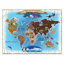 Puzzle harta lumii World Map Melissa and Doug 500 piese