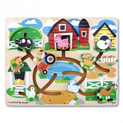 Joc de lemn Ferma Labirint Melissa and Doug