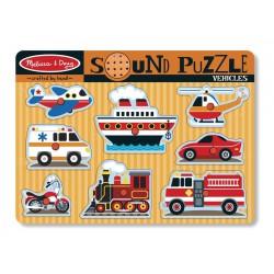 Puzzle cu sunete Vehicule Melissa and Doug