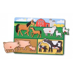 Melissa and Doug - Puzzle lemn Ferma
