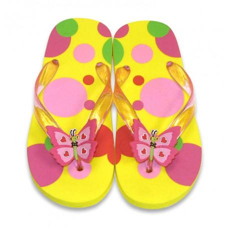 Papuci de baie sau plaja copii Bella Butterfly Melissa and Doug mas 24-25