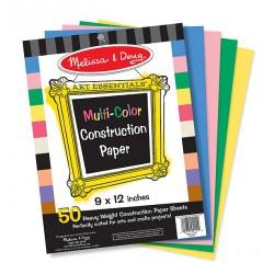 Hartie multicolora pentru proiecte de lucru manual Melissa and Doug