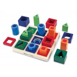 Set incastre Forme de sortat pe tabla Melissa and Doug