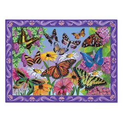 Set de creatie mozaic pe numere Peisaj cu Fluturi Melissa and Doug