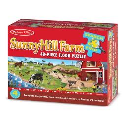 Puzzle de podea cauta si descopera Ferma de pe Deal Melissa and Doug 48 piese