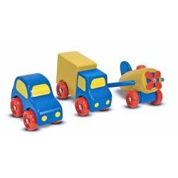 Set vehicule din lemn Melissa and Doug