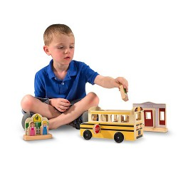 Autobuzul scolar set de joaca din lemn Melissa and Doug