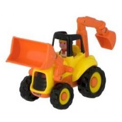 Tractor excavator cu sunete si lumini Miniland