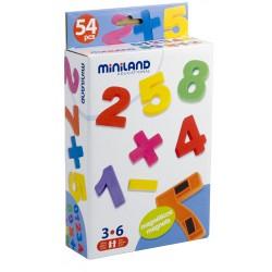 Numere magnetice Miniland 54 buc