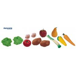 Cos cu fructe si legume de jucarie Miniland