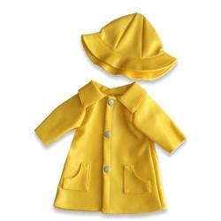 Pelerina de ploaie galbena pentru papusi Miniland 38-42 cm