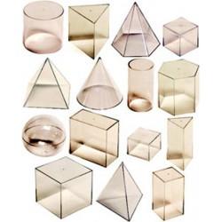 Set didactic corpuri geometrice Miniland 15 piese