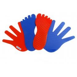 Set 8 maini si 8 picioare antialunecare - Miniland