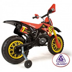 Motocicleta electrica MotoCross CR 6V Injusa