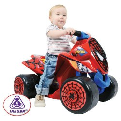 ATV copii Wings Spiderman Sense 6V Injusa
