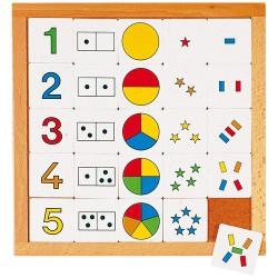 Joc educativ pentru gradinita Diagrama de la 1 la 5 - Educo