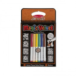 Catifeaua magica Carnet de colorat Animale Melissa and Doug