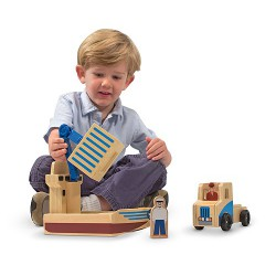 Set de joaca Vapor cargo si camion Melissa and Doug